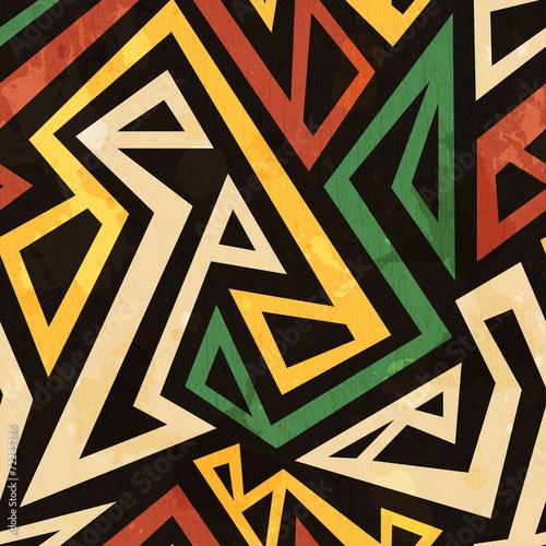Materiał do szycia Afryki bezszwowe wzór geometryczny efekt grunge