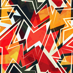warm color geometric seamless pattern