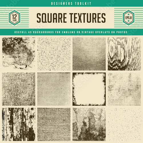 12 textures - from subtle to heavily distressed - 72285449