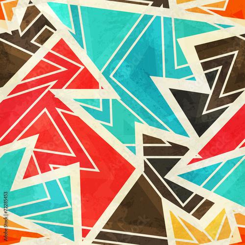 Fototapeta youth geometric seamless pattern with grunge effect