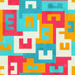 funky bright maze seamless pattern