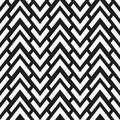 monochrome zigzag seamless pattern