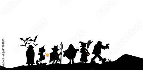 Leinwanddruck Bild halloween walk