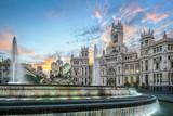 Madrid, Spain at Communication Palace at Dawn