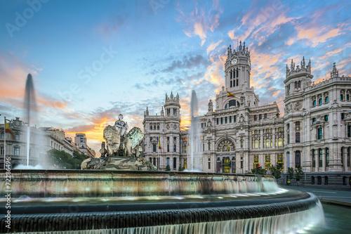 Madrid, Spain at Communication Palace at Dawn - 72286496