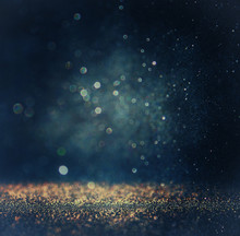 "Постер, картина, фотообои ""glitter vintage lights background. gold, silver, blue and black."""