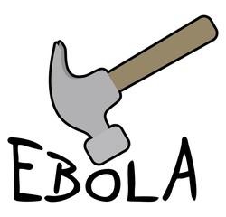 Hammer and ebola symbol