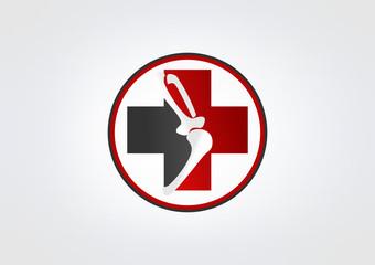 Bone business Logo Icon Medicine klinik Bone Medical