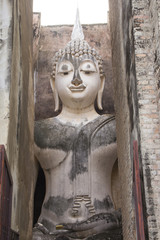 Ancient Buddha Statue of Srichum temple, Sukhothai, Thailand