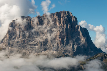 Dolomite peaks above clouds