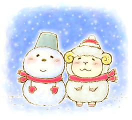 雪だるま ひつじ