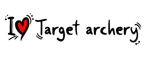 Target archery love