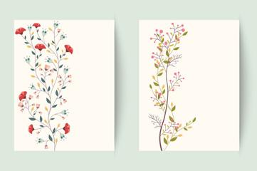 Retro flower background
