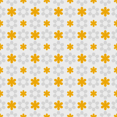 Vector Background #Polka Dot Pattern, Yellow Flower