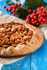 Homemade organic apple pie