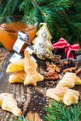 Homemade Christmas cookie tree