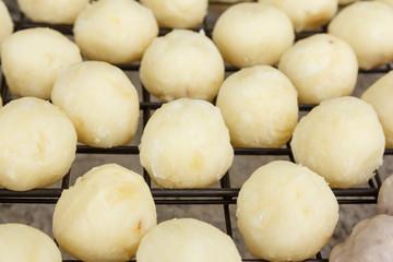 Grilled sweet cassava ball (Thai Dessert)