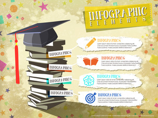 happy graduation elements design for infographic