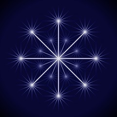 Wunderkerze happy new Year jsparkler blau weiß