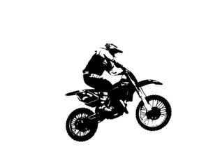 Motorcyclist in the bike