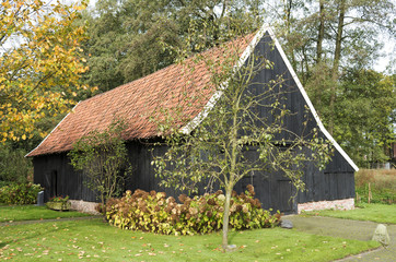 Barn in the Open Air Museum in Ootmarsum in The Netherlands.