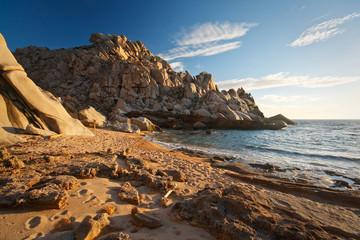 Coast of Capo Testa in Sardinia, Italy.