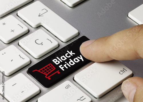 Leinwandbild Motiv Black Friday