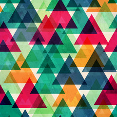 vintage bright color triangle seamless texture
