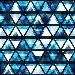 technology triangle seamless pattern