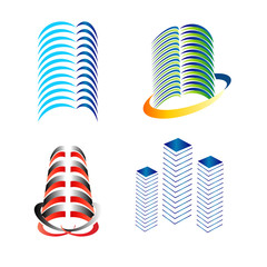 Building logo set