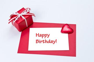 Gift card heart happy birthday