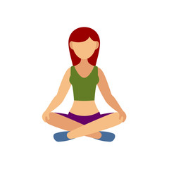 Woman in Pose Practicing Yoga.