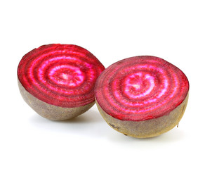 Fresh beetroot isolated on white background