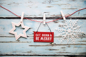 """Eat, drink and be merry"" sign"
