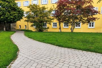 Rathaus mit Park in Bad Saulgau