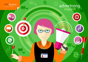 Advertising expert of marketing profession series