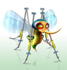 Cyborg - Insekt Stechmücke, Mechanik, fantasie