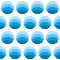 Seamless geometric pattern of circles