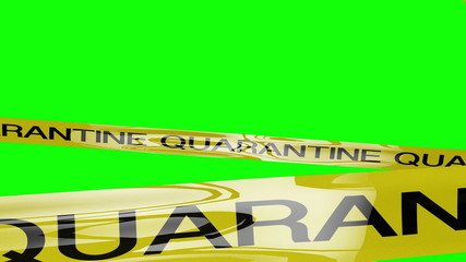 Quarantine Ribbon Signs 3D animation