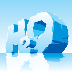 ise water symbol H2O