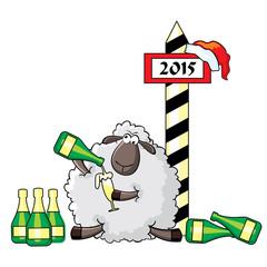 Sheep celebrates new year