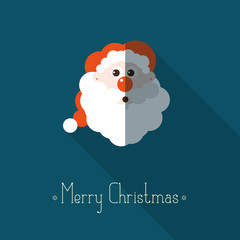 Merry Christmas background with santa claus and place for text.