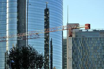 cantiere di costruzione edile - Milano Porta Nuova