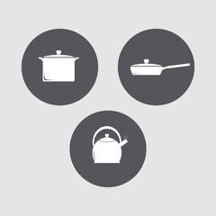 Mini set - kitchen icons.
