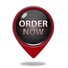 Order now pointer icon on white background