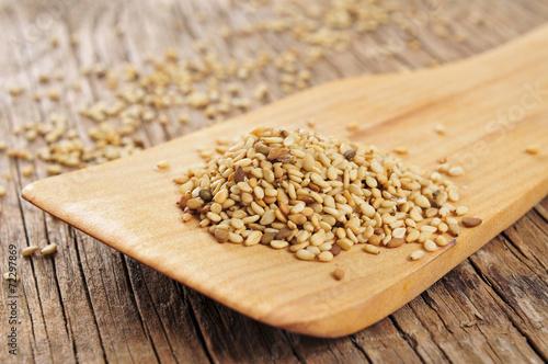 Fotobehang Granen sesame seeds