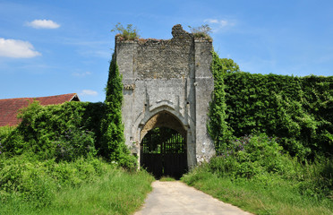 Normandie, the picturesque castle of Chateau sur epte