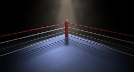 Boxing Corner Spotlit Dark