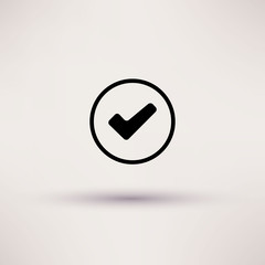 Icon of check box Isolated Vector illustration.
