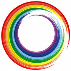 Art rainbow color frame abstract splash paint background 3